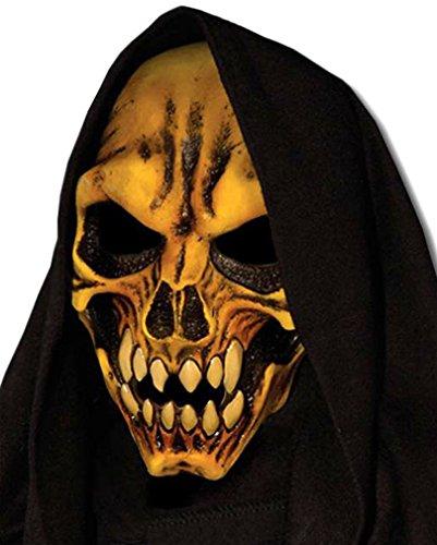 Horror-Shop Rotten Skeleton Reaper Maske aus Latex mit -