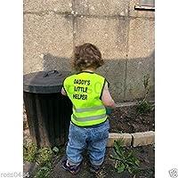 Kids Hi Viz Safety Vest High Visibility Top Hi Vis Baby Waistcoat Childrens Gift (Daddy