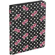 Accessorize ACZIPD3PD - Funda para iPad 3, diseño de flores y lunares color negro