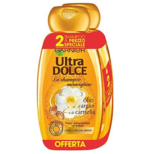 Garnier Ultra Dolce Shampoo Meraviglioso allOlio dArgan e di Camelia per Capelli Secchi Senza Parabeni Estratti Naturali 300 ml