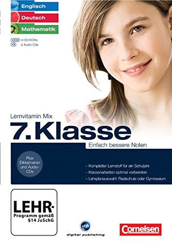Lernvitamin Mix - Englisch/ Deutsch/ Mathe 7. Klasse - Einfach bessere Noten