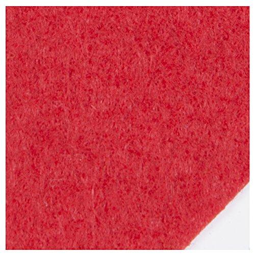 1 rollo 121,20 m2 de Moqueta o alfombra para Eventos y ferias, color Rojo. Rollo 2.02x60 metros.