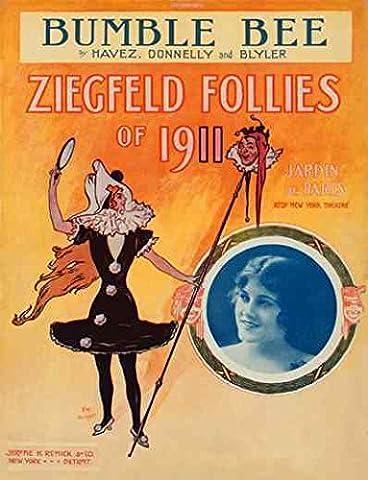 Canvas Ziegfeld Sheet Music Ziegfeld Follies Of 1911 Bumble Bee A2 large 42x60cm Box Canvas Print 16x24 inch