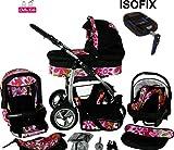 Chilly Kids Dino 4 en 1 Poussette combinée kit de voyage (siège auto, base ISOFIX,...