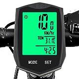 Fahrradcomputer Kabelloser Fahrradtacho Wasserdicht Temperaturanzeige Kilometerzähler LCD-Hintergrundbeleuchtung Speedometer