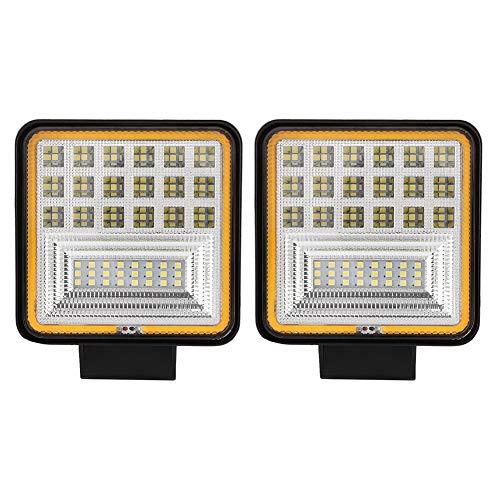 KIMISS 1 coppia 9-30 V faro quadrato, 48W 6000K LED Lampadina a testa quadra luci di marcia diurna per auto, camion, fuoristrada, carrelli elevatori, veicoli di costruzione