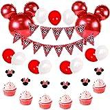 JOYMEMO Décorations de Fête Minnie et Mickey avec Ballons en Aluminium de Mickey Mouse
