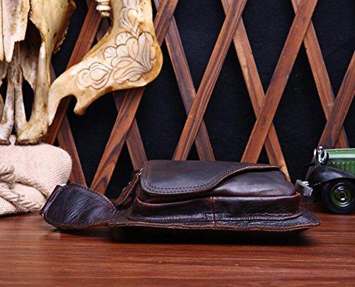 DJB/ Leder Brust bedeckt Männer geschlungen kleine Baotou Crazy Horse Leder Herrentaschen 1