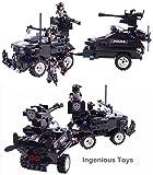 Ingenious Toys SWAT police set camion vitesse bateau bande-annonce & 4 mini figurines / 448 pièces compatible bricks #C0530...