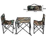 Rziioo Camping Tisch und Stühle, Klappbare Leichte Midget Portable Für Picknick Camping Festivals BBQ Wandern Angeln,Green,A
