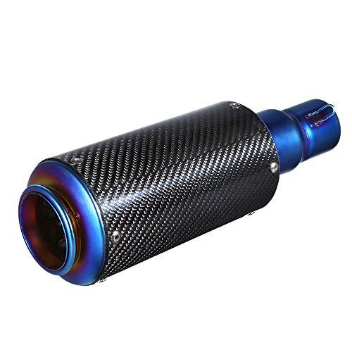 KKmoon 38-51mm Kohlefaser Abdeckung Refit Auspuff Schalldämpfer Mit Passform für Motorräder ATV Universal