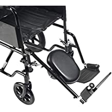 Drive Medical ELR001R - Reposapiernas con reposapiés para la pierna derecha ...