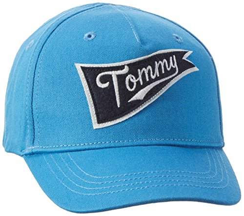 Tommy Hilfiger Jungen Kappe Boys Badge Cap, Blau (Blithe 498), 152 (Herstellergröße: L)