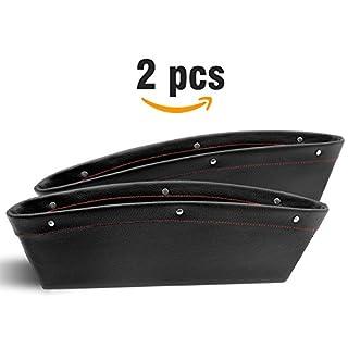 Autositz Seitentasche (2Pcs) zwischen Sitz und Konsole, Caddy Slit Pocket Catcher Storage Organizer, Leder Universal flexibel Box Gap bortierte Tasche.
