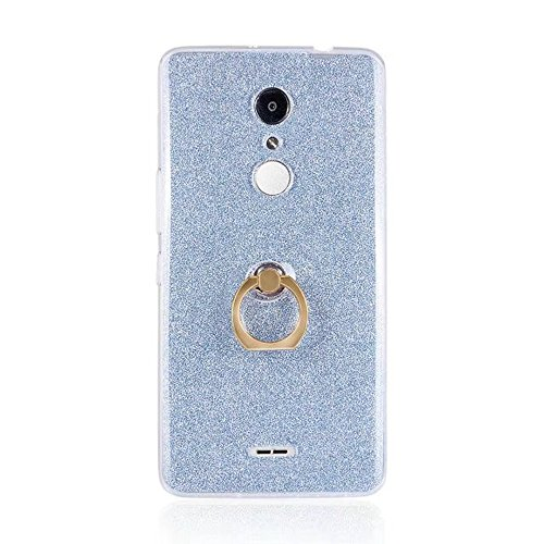Soft Flexible TPU Back Cover Case Shockproof Schutzhülle mit Bling Glitter Sparkles und Kickstand für Alcatel A3XL ( Color : Black ) Blue