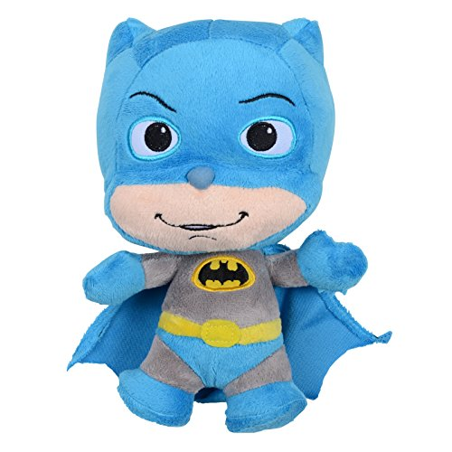 "9"" LITTLE MATES COSY PLUSH CUDDLY TOY COMIC HEROES SOFT KIDS DC SUPER HERO NEW (BATMAN)"