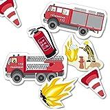 FEUERWEHRMANN SAM Geburtstag-Deko-Set, 66-teilig zum Kindergeburtstag Jungen und Mädchen und Feuerwehr-Motto-Party für 8 Kids Vergleich