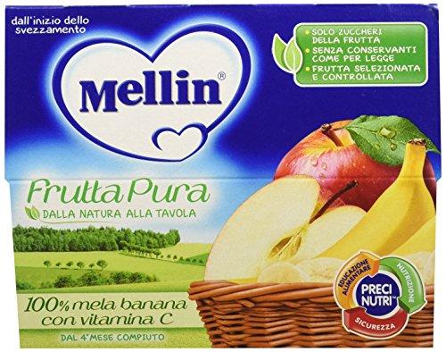 Mellin Frutta Pura Mela e Banana 24 Vasetti da 100 gr
