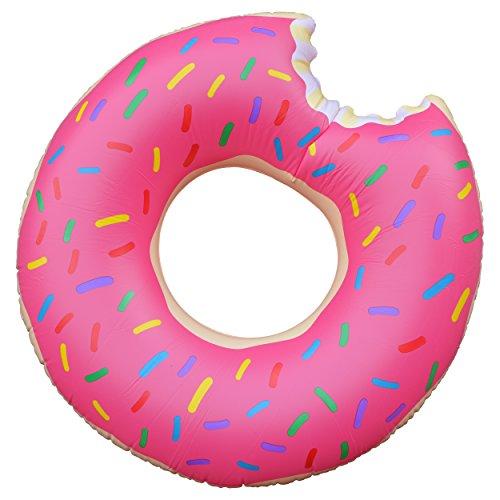 Ocean 5 XXL Donut Schwimmring mit Biss - Ø 100 cm, aufblasbarer Schwimmring, riesen Luftmatratze