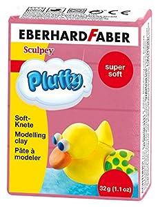 Eberhard Faber 571428-Super Soft plastilina pluffy, 32g, Rosa