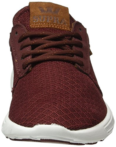 Supra Hammer Run, Baskets Basses Mixte Adulte Rouge - Rot (BURGUNDY / MONK 691)