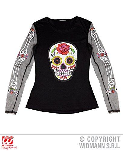 SHIRT - TAG DER TOTEN - Größe (M/L), Gedenktag Feiertag Feierlichkeiten Mexiko (Girl Kostüm Muertos Dia De)