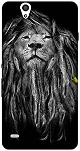 The Racoon Lean printed designer hard back mobile phone case cover for Sony Xperia C4. (Rasta Lion)