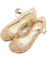 f1d7bd30a7b2 LnLyin Baby Girls Soft PVC Crystal Shoes Children s Princess Shoes