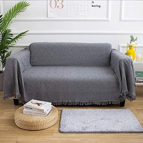 Liuxiaomiao Decke werfen 100% Baumwolle gewebt Wurfdecke Multifunktionale Freizeitdecke Nickerchen Decke Reisedecke for klimatisierte Zimmer Reisebettwäsche (Color : Gray, Size : 130cmx180cm) -