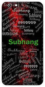 Subhang (Lord Shiva) Name & Sign Printed All over customize & Personalized!! Protective back cover for your Smart Phone : Apple iPhone 4/4S