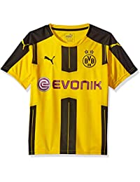 PUMA Men's Bvb Kids Home Replica Shirt with Sponsor Logo