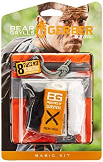 Gerber Bear Grylls Basic Kit Outdoor-Notfallset, Orange, M