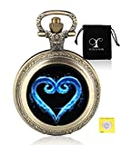 Kingdom Heart Design - Reloj de Bolsillo de Cuarzo para Hombre, analógico