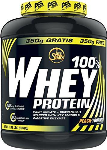 All Stars 100% Whey Protein, Peach-Yoghurt, 1er Pack (1 x 2350 g)