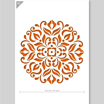 Mandala Schablone Karton Oder Plastik A5 148 X 21 Cm Mandala