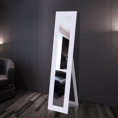 Anself Standspiegel Ankleidespiegel Spiegel 135 x 22 x 0,3 cm Weiß