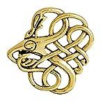 VEA-DE Botones y distintivos Vintage Viking Pattern Broches Button Badge Accesorios de Ropa (Dorado) Regalos