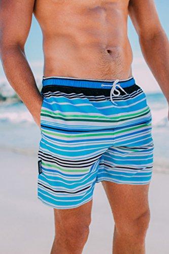 GUGGEN MOUNTAIN Herren Badeshorts Beachshorts Boardshorts Badehose *High Quality Print* Farbmix