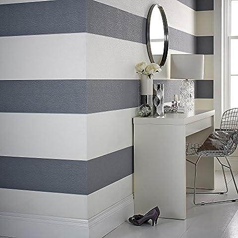Designer Julien MacDonald Glitz Glitter Stripe Soft Wallpaper Grey / Pearl