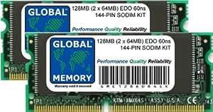128Mo (2 x 64Mo) 60ns 144-PIN EDO SODIMM MÉMOIRE RAM KIT POUR ORDINATEURS PORTABLES