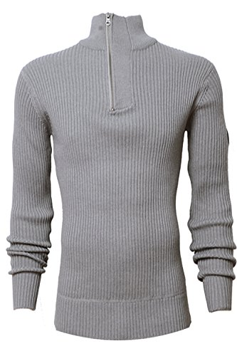 Crosshatch - Pull - Manches Longues - Homme gris gris Small Cloudurst Marl - Light Grey