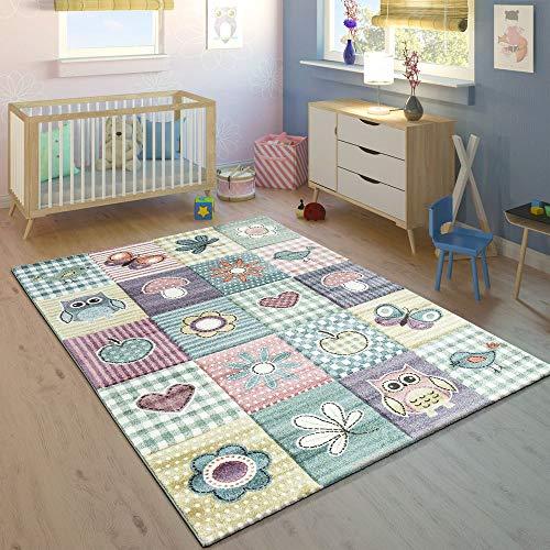 Tappeto per Bambini Stanza dei Bambini Taglio Sagomato Motivo Grazioso Pastello Multicolore, Dimensione:80x150 cm