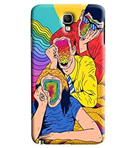 Blue Throat Dumb Faces Of Three Printed Designer Back Cover For Samsung Galaxy Note 3 Neo