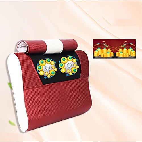 Gesundheits-massage-kissen (Massage Kissen Nackenwirbel Massagegerät Multifunktionale Nacken Elektrische Zervikalen Kissen Heißen Kompresse Kissen Hause Ganzen Körper Kneten , White)