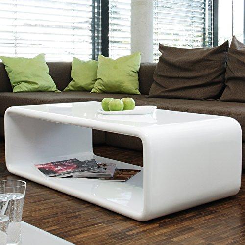 salesfever couch tisch wei hochglanz 120x60 cm aus fiberglas recht eckig lekaro schlichter