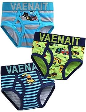 Vaenait baby 2–7años niños 100% algodón ropa interior 3Pack Set breve grúa