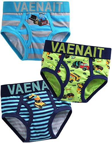 Vaenait Baby Kleinkind Kinder Jungen Unterwaesche Slips 3-Pack Set Brief Crane XL (Unterwäsche 3pk Slip Kleinkind-jungen)