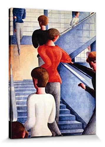 1art1 117074 Oskar Schlemmer - Bauhaustreppe, 1932 Poster Leinwandbild Auf Keilrahmen 80 x 60 cm