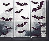 Tuopuda Halloween Pegatinas Pared Ventana 96 pcs Murcielagos Halloween Decoración Pegatinas Pared (Negro)