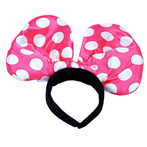Reifen Haare Fasching Karneval Punkte Maus Ohren pink (Mickey-mouse-mützen Mit Ohren)